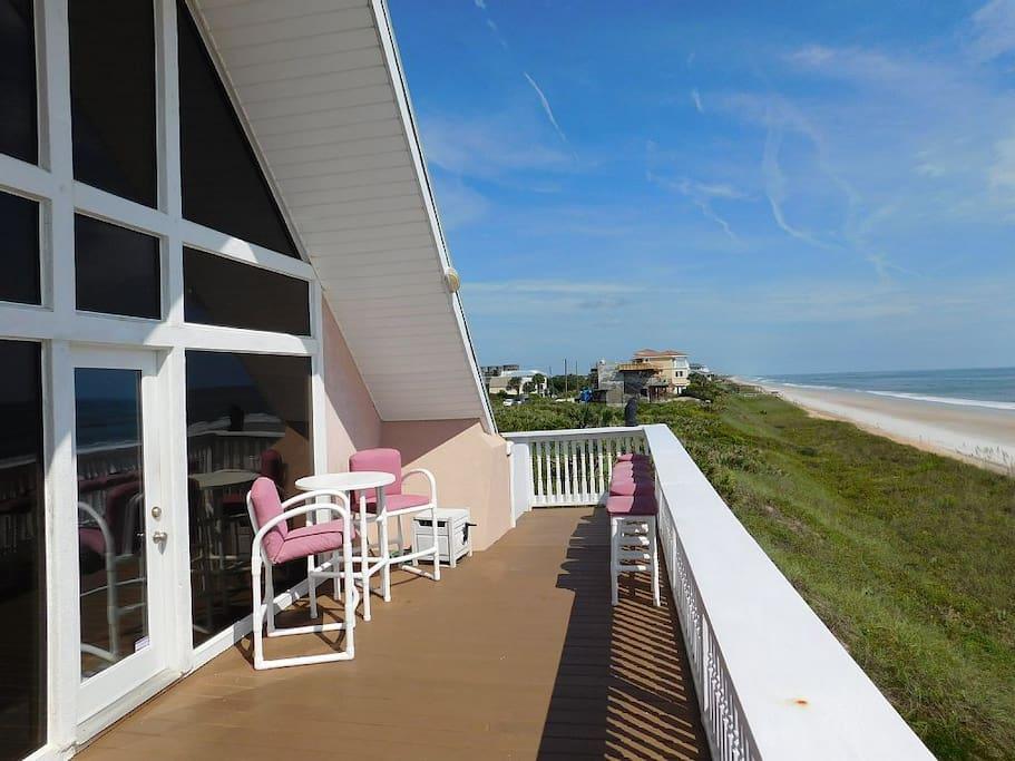 Wide open beachside deck