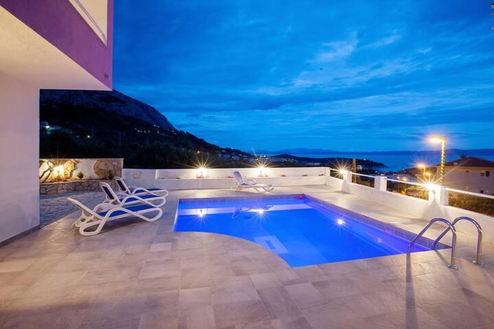 Villa Sandra with pool - Macarsca - Villa
