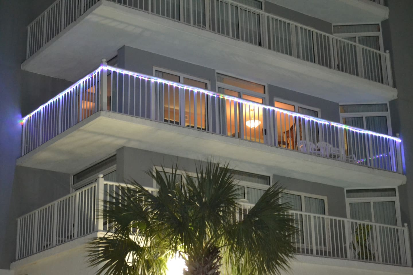 Condo has lots of glass and fifty foot wrap balcony that showcases ocean views and resort amenities.