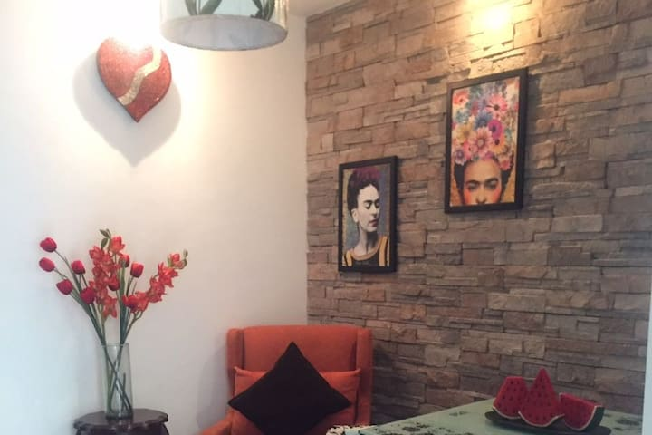 Lovely Cozy independent apartment Frida´s Love - Ciudad de México - Apartemen