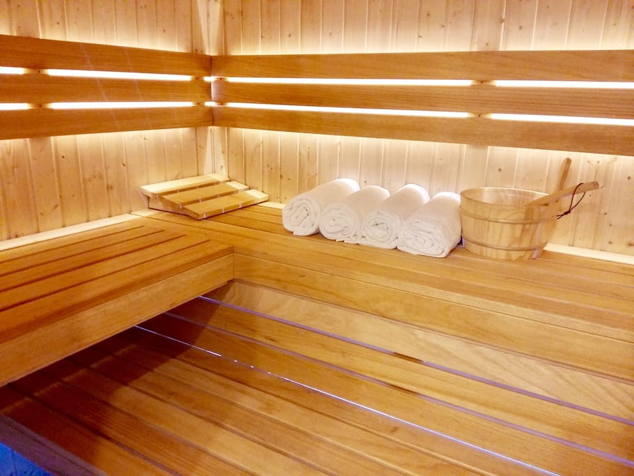 a private sauna