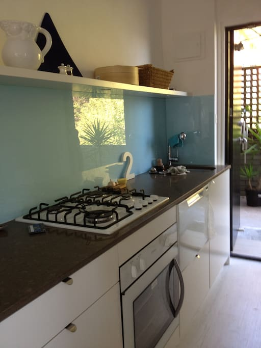 dishwasher,gas cook top,electric oven