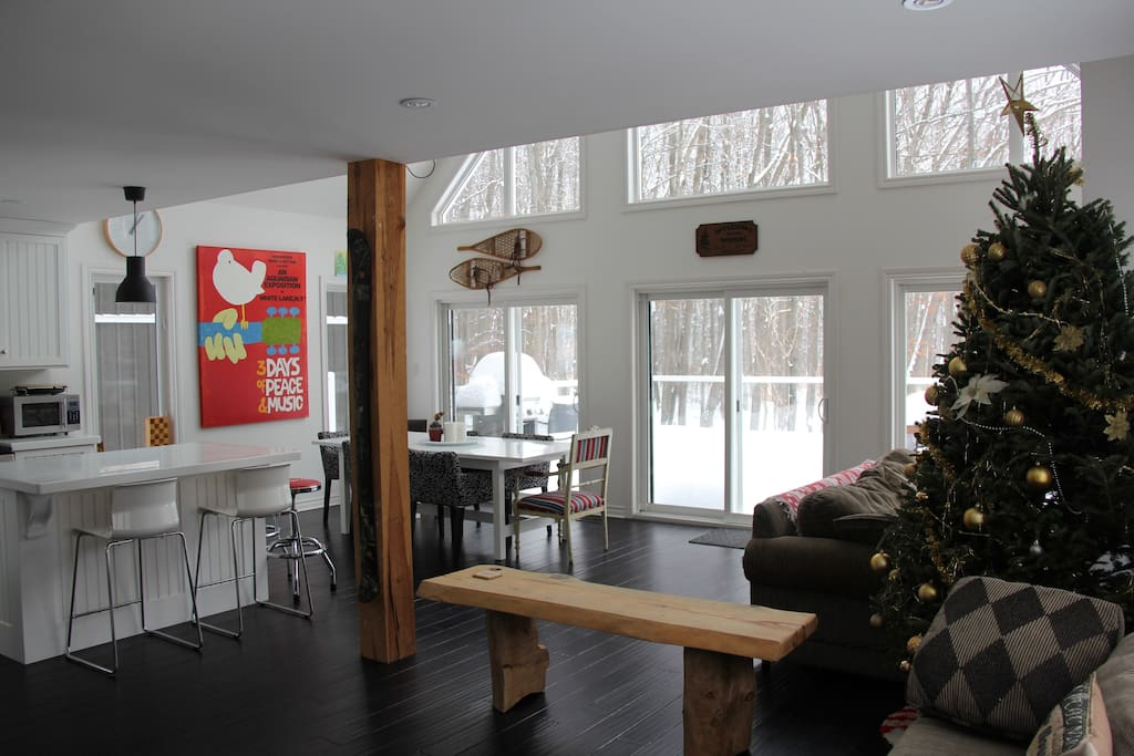 Loads of natural light floods into the living space
