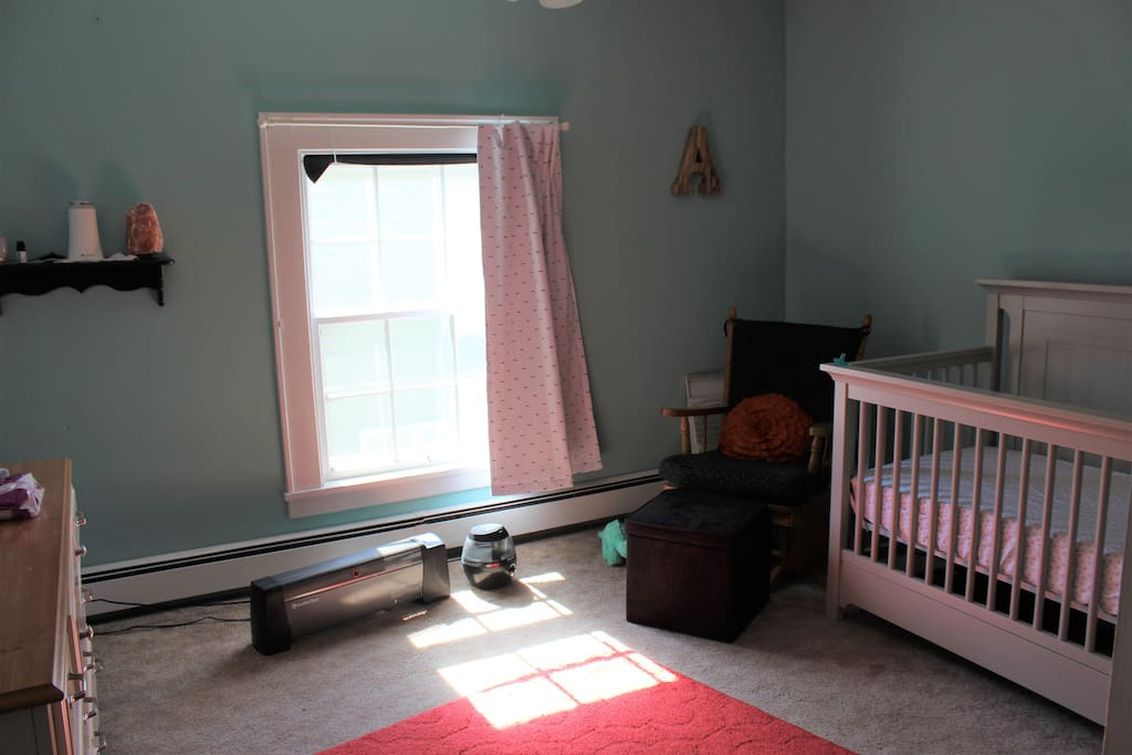 Bedroom 2 (has a crib. It can be exchanged for a twin bed. matching the one in Bedroom 3)