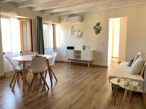 Appartement La Palma - in het centrum van Pella
