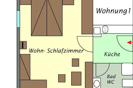 Ferienwohnung für max. 4 Personen - Lech