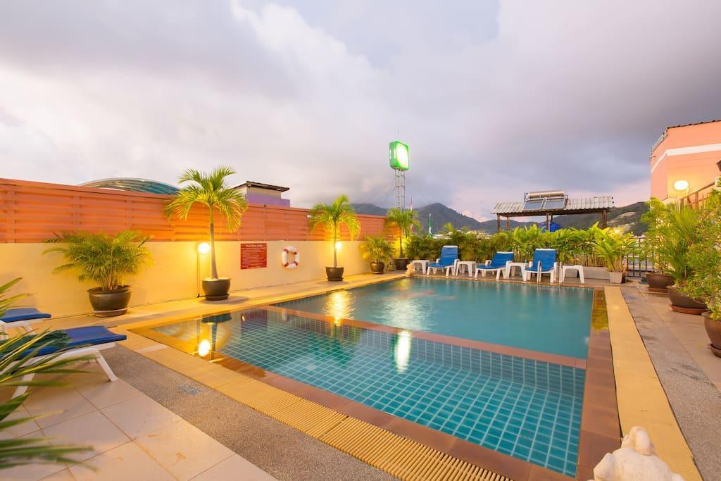 Pool is 45 square meters