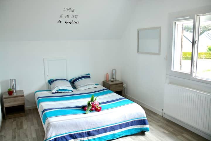 Chambre relaxante à 10 min des falaises d'Étretat