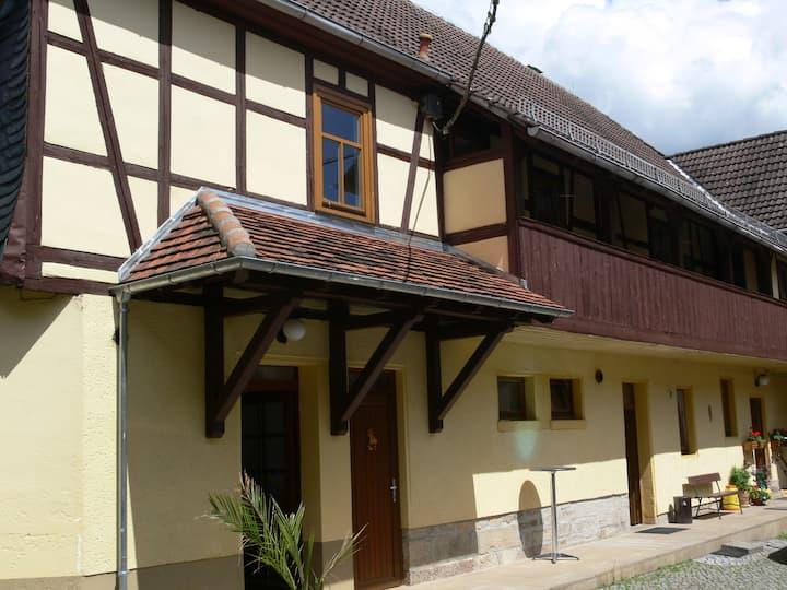 """Ferienhof """"Zum Waldblick"""" (Trockenborn-Wolfersdorf) - LOH06256, Ferienwohnung mit Balkon, 74qm, 2 Schlafzimmer, max. 4 Personen"""