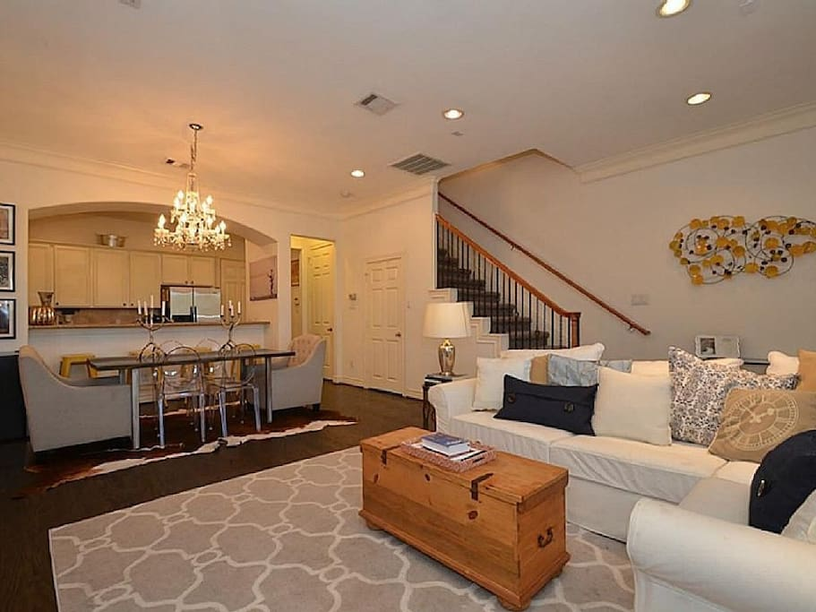 Open concept living and dinning room