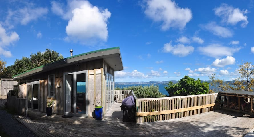 Tree house above Wellington harbour