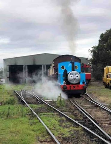 Thomas the Tank Engine is a highlight of the Historic Bellarine Railway.  Bookings are required.