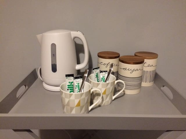 Tea and Coffee facilities are provided in your room for your convenience.
