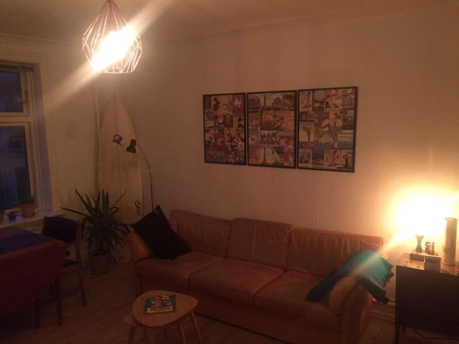 Living room at night