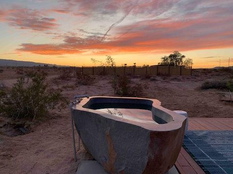 Mesquite Cabin Studio w/ Private Hot Springs Tub