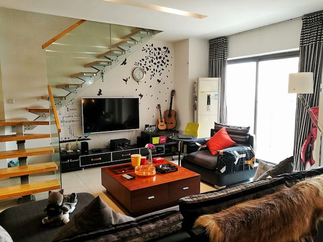 「LOFT&HOME」downtown /duplex apartment /convenient - Chengdu - Leilighet