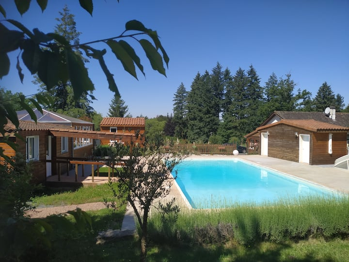 Gîte IV en Dordogne, parc 3ha, étang et piscine