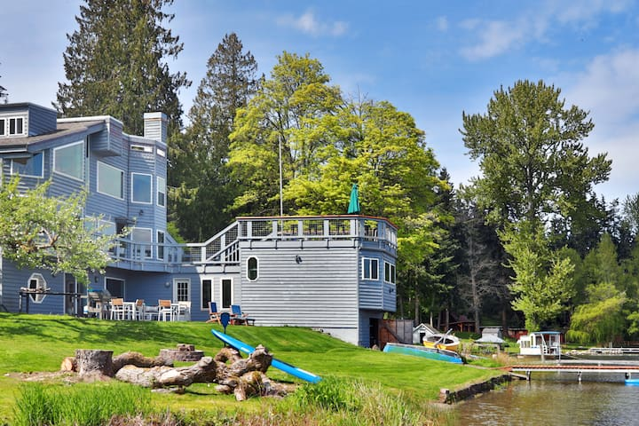 Top Two Floors of the Whidbey Island Lake House