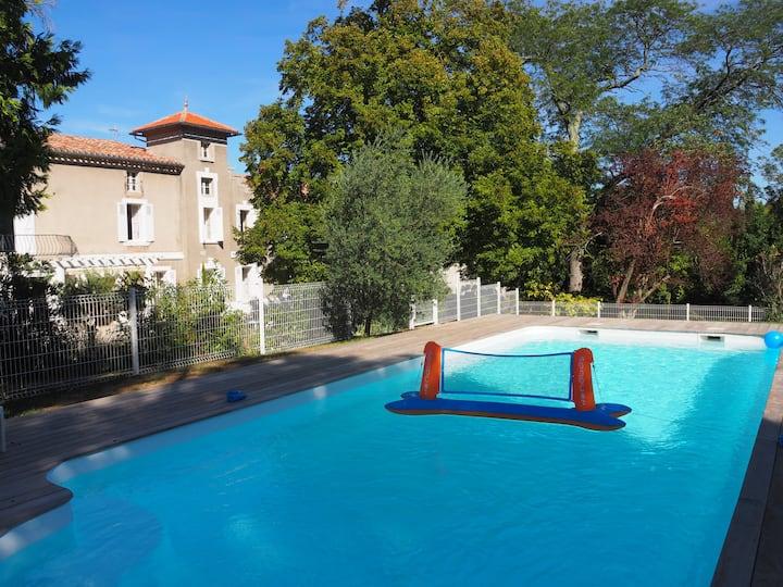 Belle maison de maître 14 pers près de Carcassonne
