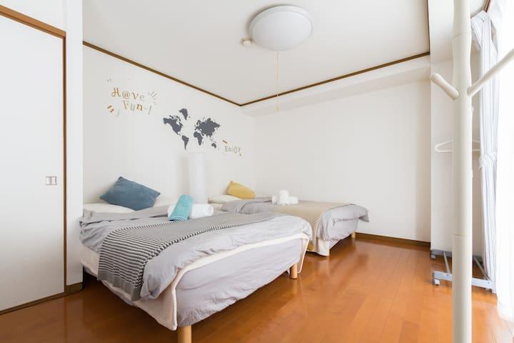 【FREE Wi-FI】Easy access to  NAMBA & SHINSAIBASHI - Nishi-ku, Ōsaka-shi - Apartamento