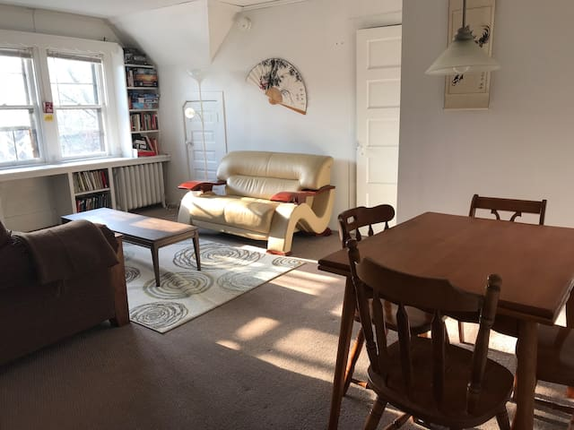 Full, Bright One Bedroom b/w Cornell and Downtown