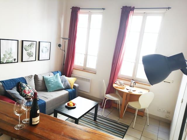 Le salon - Cuisine - Salle à manger | The living room and the kitchen