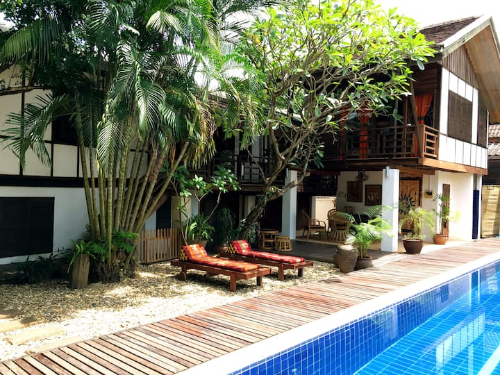 Guest Room with Pool in Oasis by Mekong river