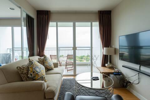Hua Hin 2 Bedrooms Panorama Sea View Top Floor