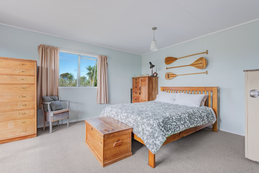 Spacious bedroom offers plenty of space for storage while you are our guest