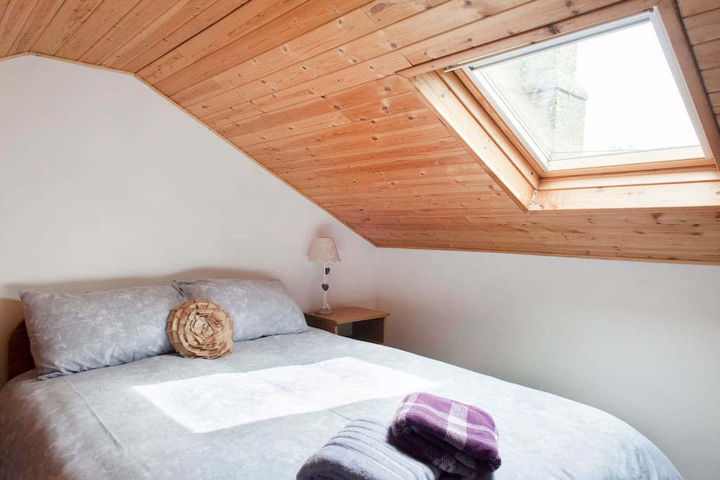 Bright and warm bedroom.