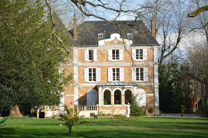 Chambres dans chateau au coeur du Vexin - Aincourt - Guesthouse