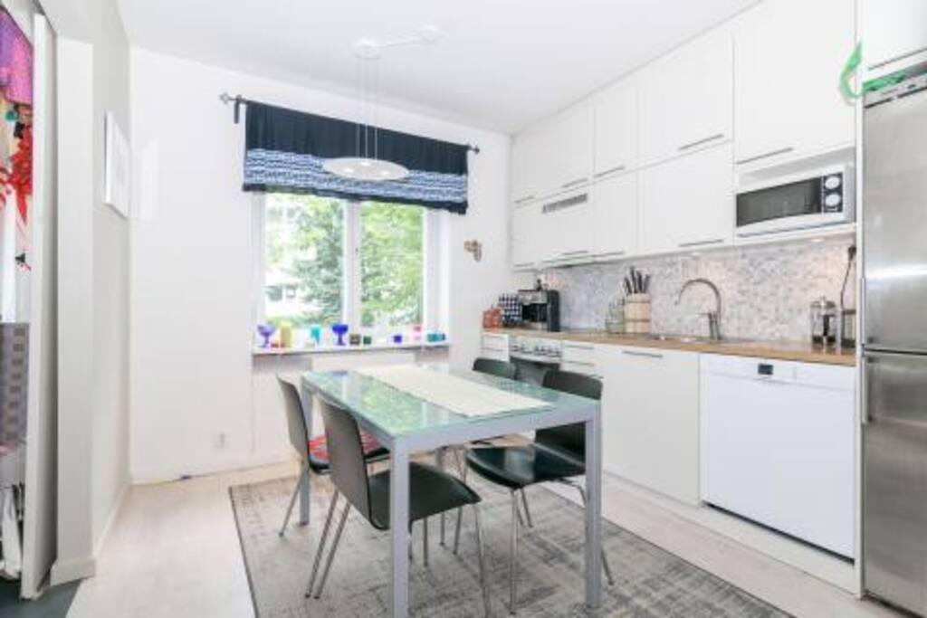 Kitchen with design furniture.