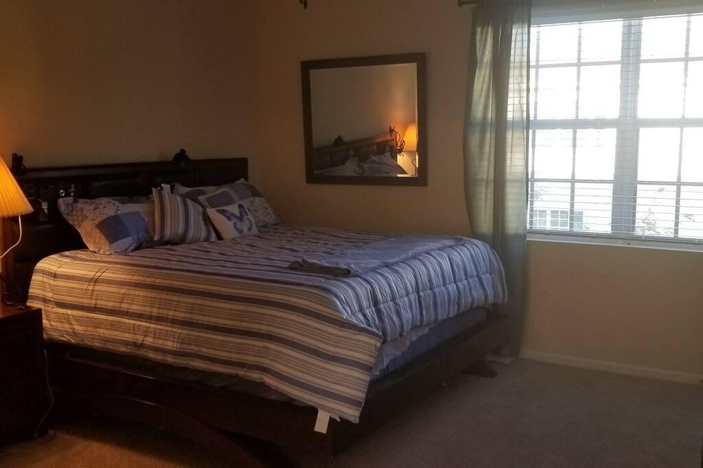 master bedroom, king size