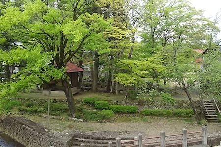 TAKANOYU-Hanare , Historical garden in the window!
