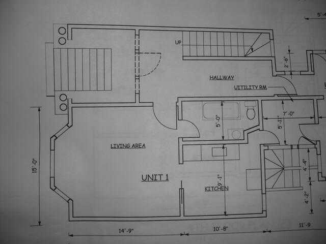 Floor Plan. Roughly 430 Sq. Ft.