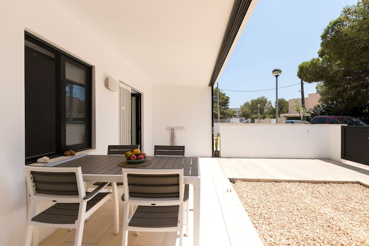 Modern Apartment La Xica with Wi-Fi, Balcony, Terrace & Shared Pool; Street Parking Available