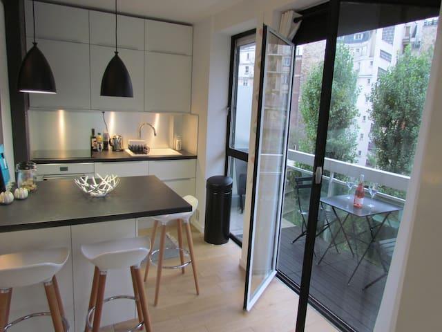 ravissant appartement avec balcon appartements louer paris 16e arrondissement le de. Black Bedroom Furniture Sets. Home Design Ideas