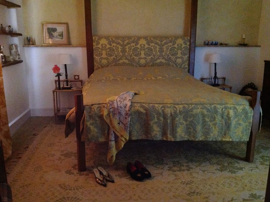 bedroom 2 with huge double bed and private shower room