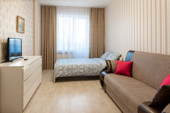 Уютная квартира ,новый дом,ЖД Вокзал.