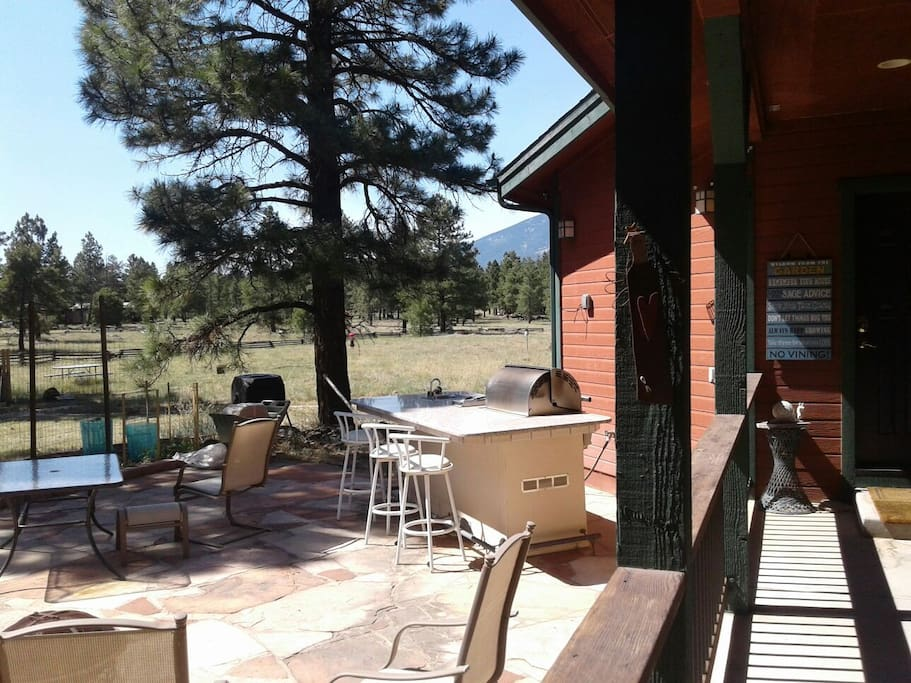 Outside area available upon request with grill. Area to enjoy the views and wild life.