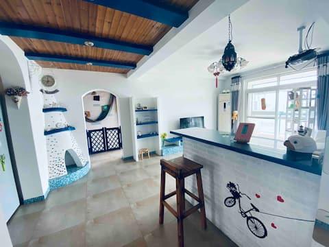 文房四宝之城敬亭山下美食街旁纯地中海风格三室一厅