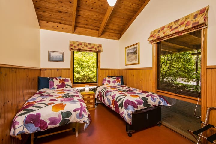 The third bedroom can be set up with a queen bed, two singles or one single bed, as required
