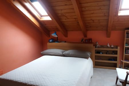 Bedroom with bathroom in the attic and snack area - San Pietro Mosezzo