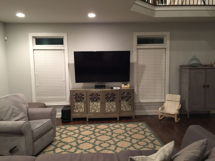"Living Room with 70"" TV."