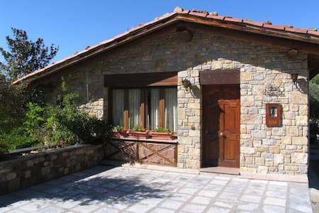 Spacious cottage with views, garden with barbeque.