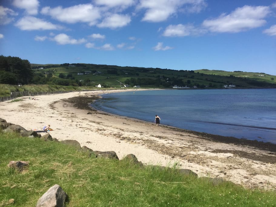 1 minute walk to Cushendun beach