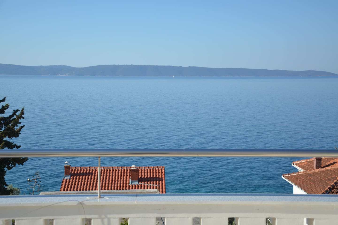 The view from terrace to sea and islands