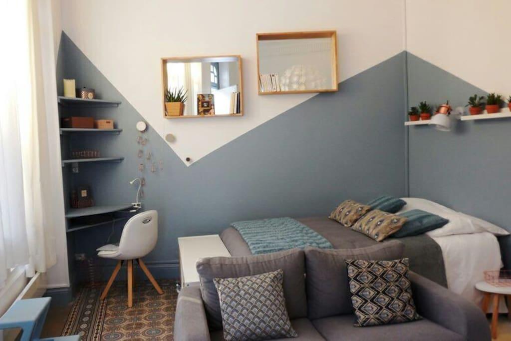 studio de caract re coeur de vichy appartements en r sidence louer vichy auvergne rh ne. Black Bedroom Furniture Sets. Home Design Ideas