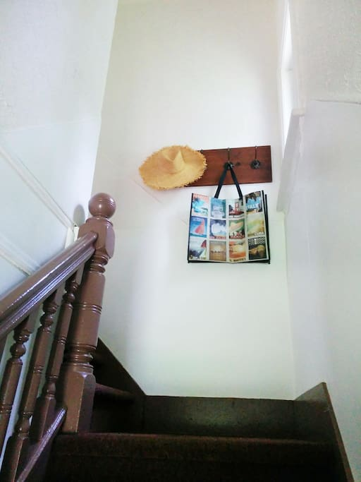 Front staircase. Private entrance.