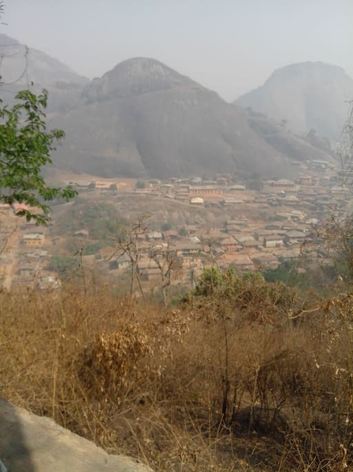 Idanre hills resort is only a 5 minutes drive or 15 minutes walk away